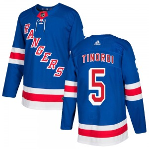 Jarred Tinordi New York Rangers Adidas Youth Authentic Home Jersey (Royal Blue)