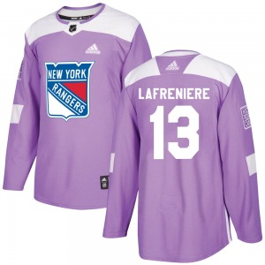 Alexis Lafreniere New York Rangers Adidas Authentic Fights Cancer Practice Jersey (Purple)