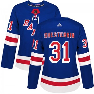 Igor Shesterkin New York Rangers Adidas Women's Authentic Home Jersey (Royal Blue)