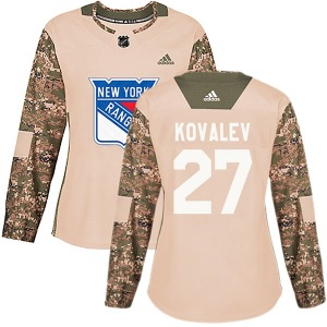 Alex Kovalev New York Rangers Adidas Women's Authentic Veterans Day Practice Jersey (Camo)